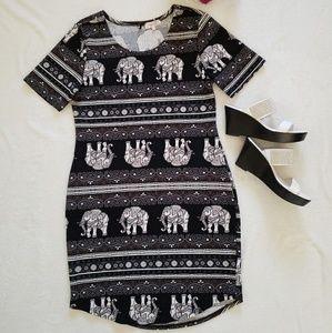 Elephant print Dress size L